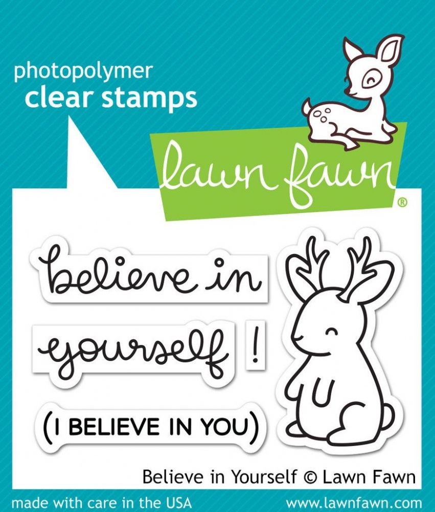lf1042 s believe in yourself clear stamps by lawn fawn